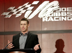 HUNTERSVILLE, NC - JANUARY 11: NASCAR driver Carl Edwards talks about his career in a stock car during a press conference to announce his retirement at Joe Gibbs Racing on January 11, 2017 in Charlotte, North Carolina. (Photo by Bob Leverone/Getty Images)