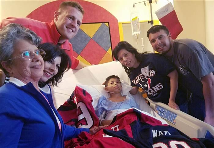 JJ Watt hospital visit