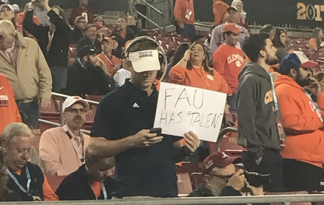 A pretty spot-on Lane Kiffin imposter made his way to the championship game.