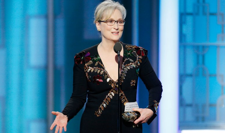 Meryl Streep won an award for winning a ton of awards, basically, and took the opportunity to roast Donald Trump.