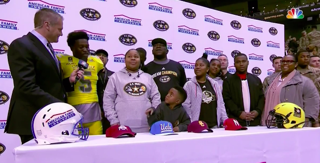 Darnay Holmes' little nephew really wanted him to commit to Ohio State