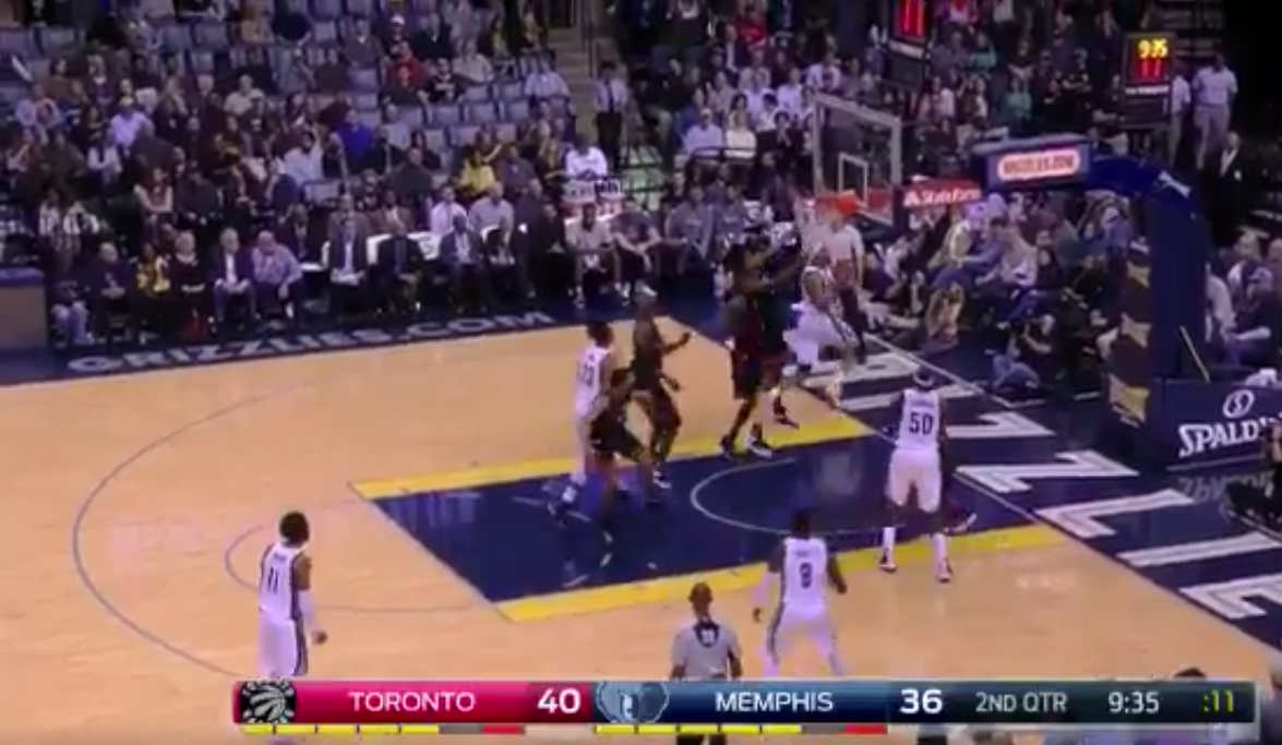 Vince Carter makes 360 layup against his old team