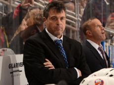 GLENDALE, AZ - JANUARY 07: Head coach Jack Capuano of the New York Islanders looks on from the bench during the first period against the Arizona Coyotes at Gila River Arena on January 7, 2017 in Glendale, Arizona. (Photo by Norm Hall/NHLI via Getty Images)