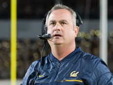 LOS ANGELES, CA - OCTOBER 27: Cal head coach Sonny Dykes looks on during an NCAA football game between the California Golden Bears and the USC Trojans on October 27, 2016, at the Los Angeles Memorial Coliseum in Los Angeles, CA. (Photo by Brian Rothmuller/Icon Sportswire via Getty Images)