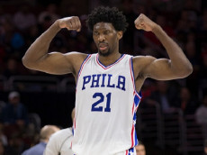 PHILADELPHIA, PA - JANUARY 3: Joel Embiid #21 of the Philadelphia 76ers reacts against the Minnesota Timberwolves at the Wells Fargo Center on January 3, 2017 in Philadelphia, Pennsylvania. NOTE TO USER: User expressly acknowledges and agrees that, by downloading and or using this photograph, User is consenting to the terms and conditions of the Getty Images License Agreement. (Photo by Mitchell Leff/Getty Images)
