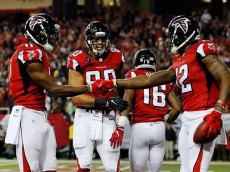 ATLANTA, GA - JANUARY 01: during the first half against the New Orleans Saints at the Georgia Dome on January 1, 2017 in Atlanta, Georgia. (Photo by Kevin C.  Cox/Getty Images) *** Local Caption ***