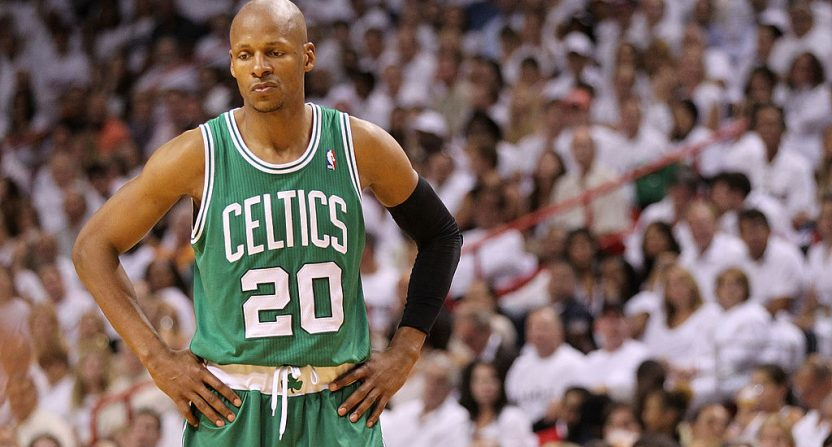 Rajon Rondo: Ray Allen not invited to celebrate 2008 Celtics championship