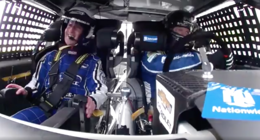 Zuckerberg Takes A Ride With Dale Jr. At Charlotte Motor Speedway