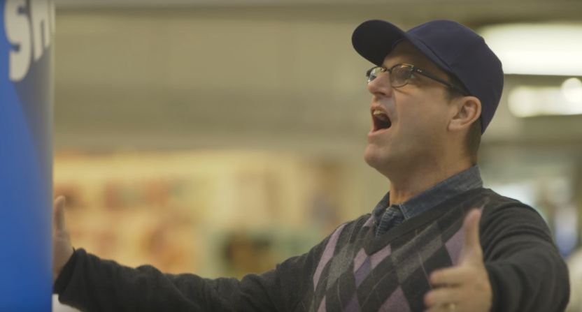 Watch Michigan football's Jim Harbaugh shout for nuts in new commercial