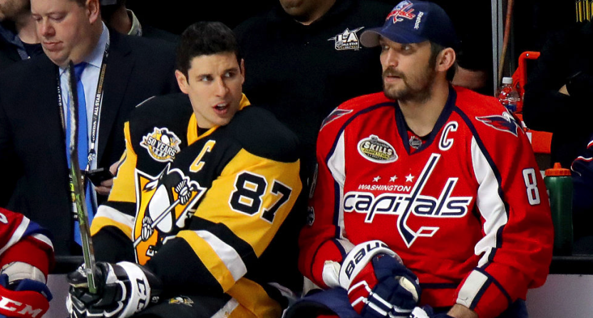 #TBT: Alex Ovechkin asks Sidney Crosby the tough questions