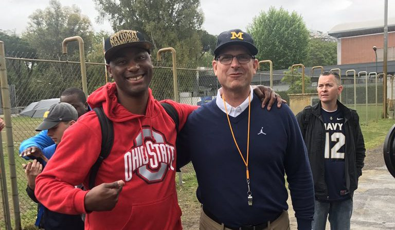 Michigan holds first practice in Italy, Buckeye fans nearby