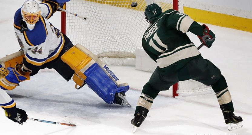 Minnesota Wild face brick wall in Blues goalie Jake Allen, lose