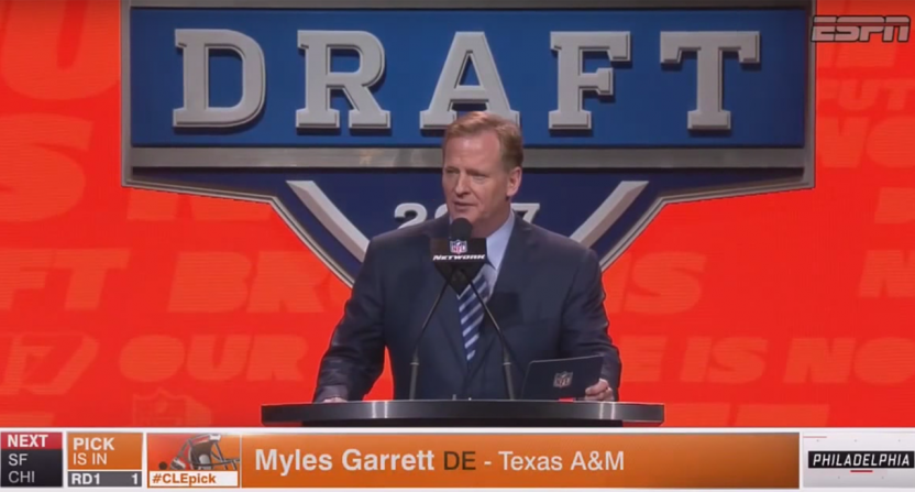 Browns draft Myles Garrett