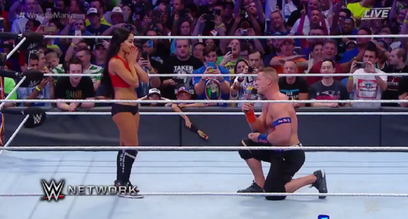 John Cena proposes to wrestler girlfriend Nikki Bella