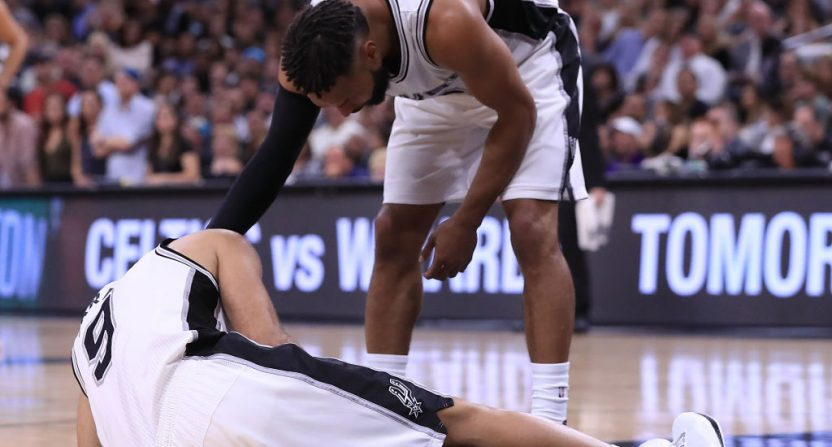 Spurs' Parker out for rest of playoffs with quad injury