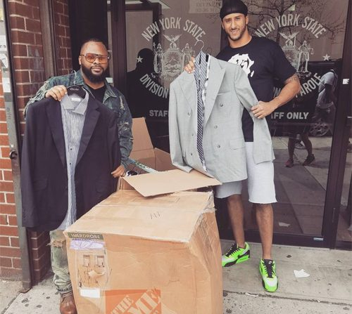 Colin Kaepernick gives parolees a makeover with suit donation