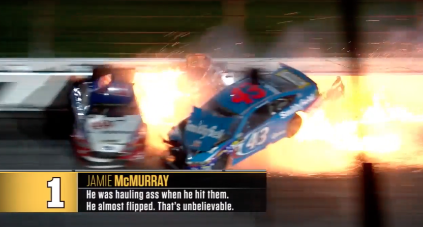 NASCAR driver Aric Almirola says he felt 'helpless' in Saturday's awful  wreck