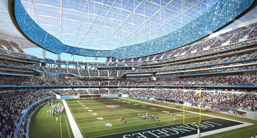 Los Angeles NFL Stadium Construction for Chargers & Rams Delayed By Heavy Rainfall