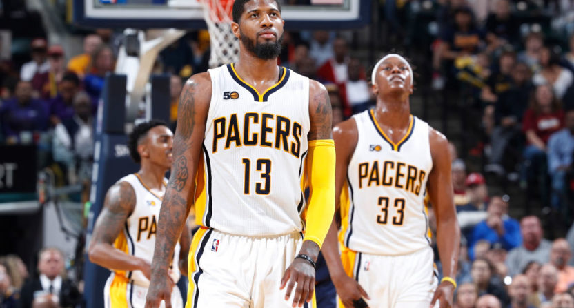 Cavs, Pacers and Nuggets engaged in George-Love trade talks