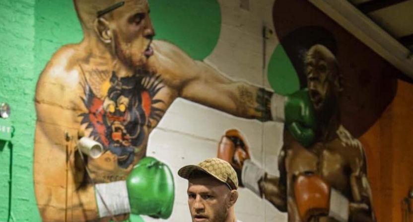 McGregor-Mayweather mural