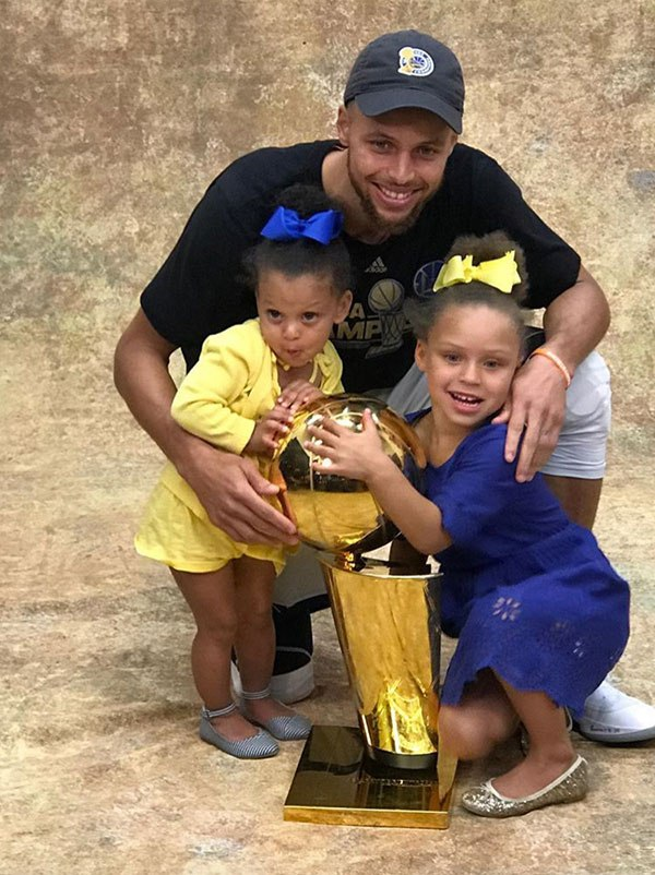 Steph Curry And Family Pose With Championship Trophy In Adorable Photos
