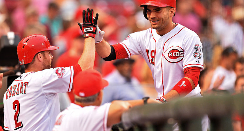 Reds Zack Cozart expects Joey Votto to come through on donkey pledge