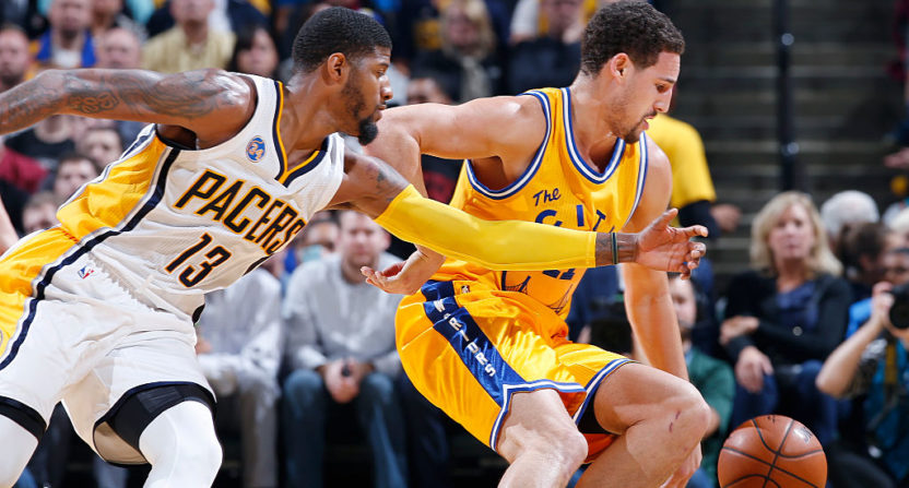 Paul George and Klay Thompson