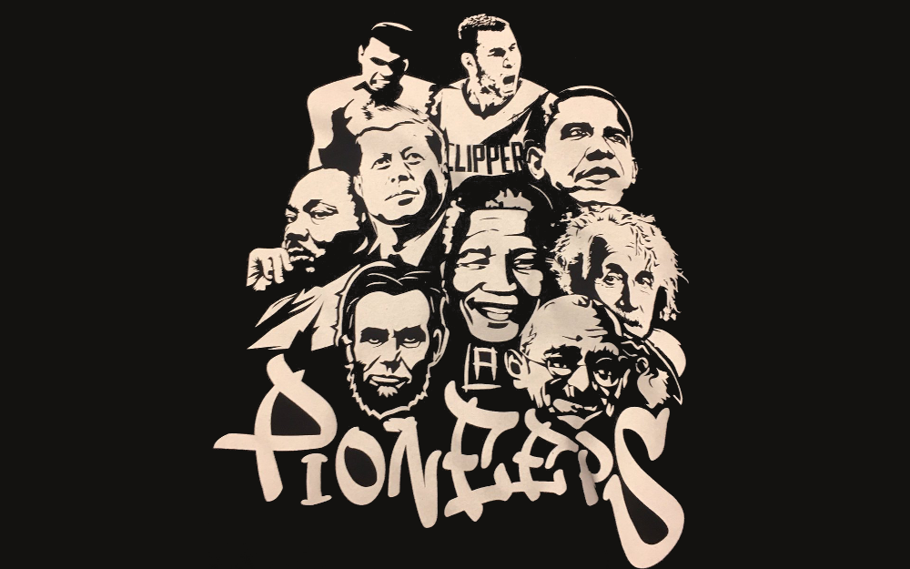 "The Clippers made this t-shirt comparing Blake Griffin to ""Pioneers."""