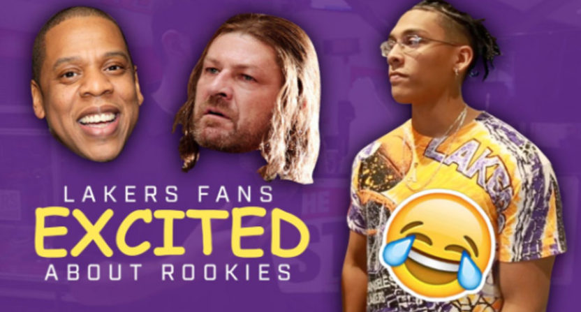 Fictional rookies show promise at summer league, according to 'diehard' Lakers fans