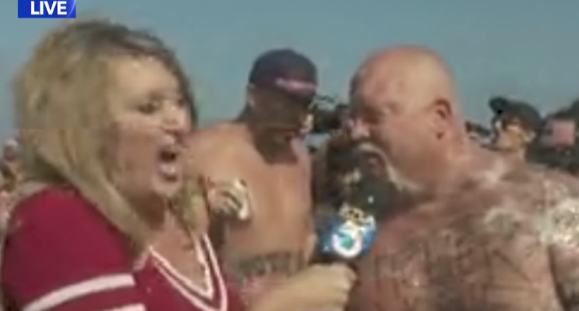 Flying Puke Interrupts Live Fourth of July TV Interview