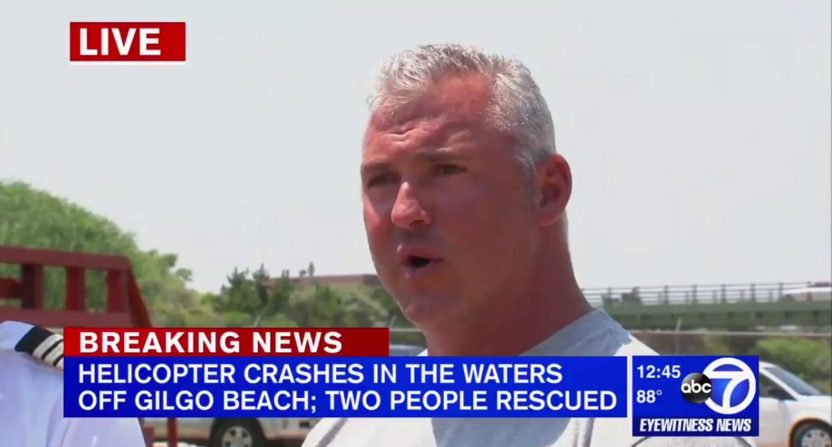 Helicopter carrying Shane McMahon crashes in ocean, both passengers OK