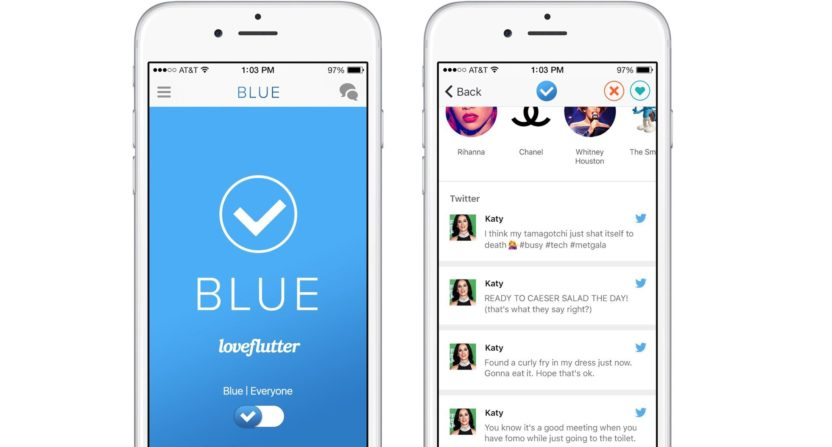 New app 'BLUE' for verified Twitter users lets you 'date celebrities discreetly'