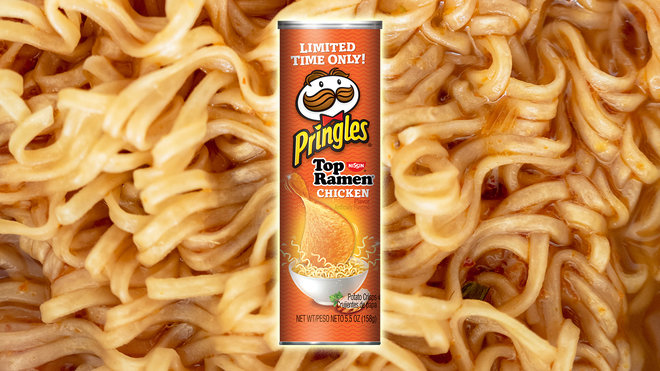 Pringles Makes Instant Noodles Even Easier to Eat With Ramen-Flavored Chip