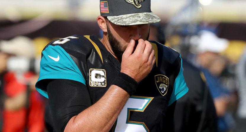 Jaguars Open Up Quarterback Competition With Blake Bortles Struggling
