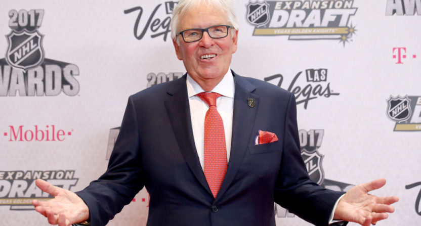 "Las Vegas Golden Knights owner Bill Foley finds gambling ""irrelevant."""