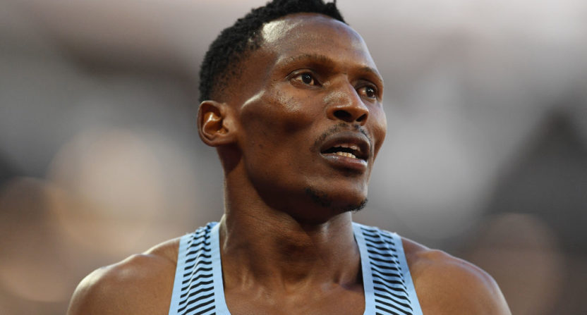 Norovirus concerns led to Botswana's Isaac Makwala being banned from competing Tuesday.