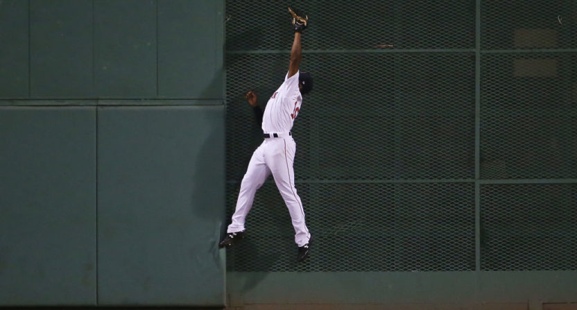 Jackie Bradley Jr. made an amazing catch Saturday against the New York Yankees.