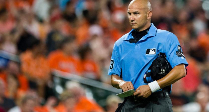 Umpires' wristband protest