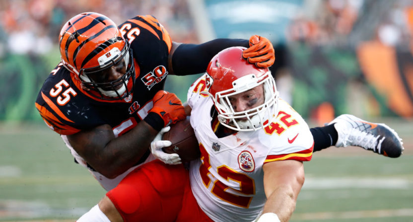Vontaze Burfict hits Anthony Sherman Aug. 19.
