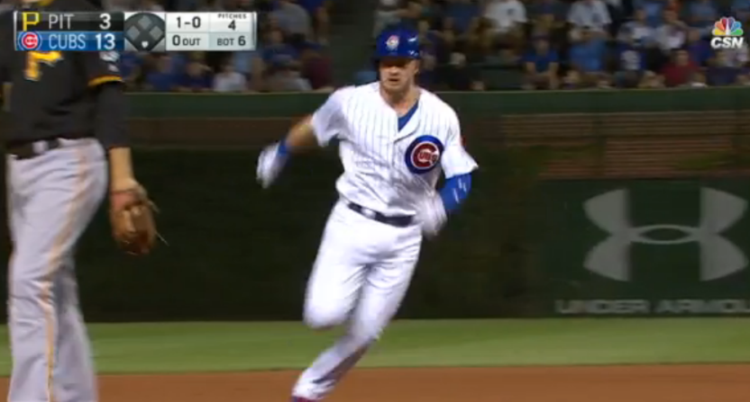 Ian Happ thought he hit a triple and got his cycle. He didn't
