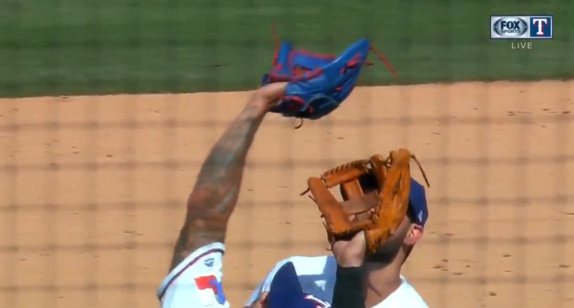 Rangers' Matt Bush to DL with sprained knee after infield collision