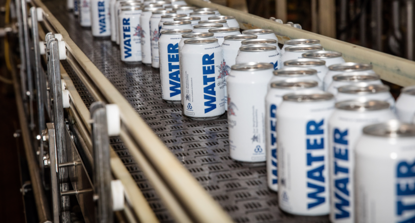 Anheuser-Busch canned water