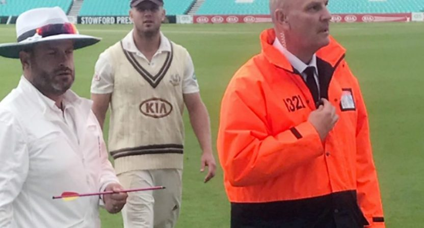 The Oval evacuated over 'crossbow bolt' in ground