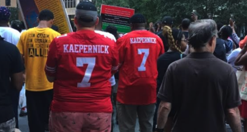 Meet the people who attended the colin kaepernick rally to meet the people who attended the colin kaepernick rally to demonstrate against social racial injustice m4hsunfo