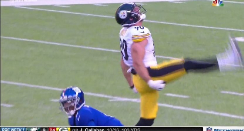 TJ Watt gets two quick sacks