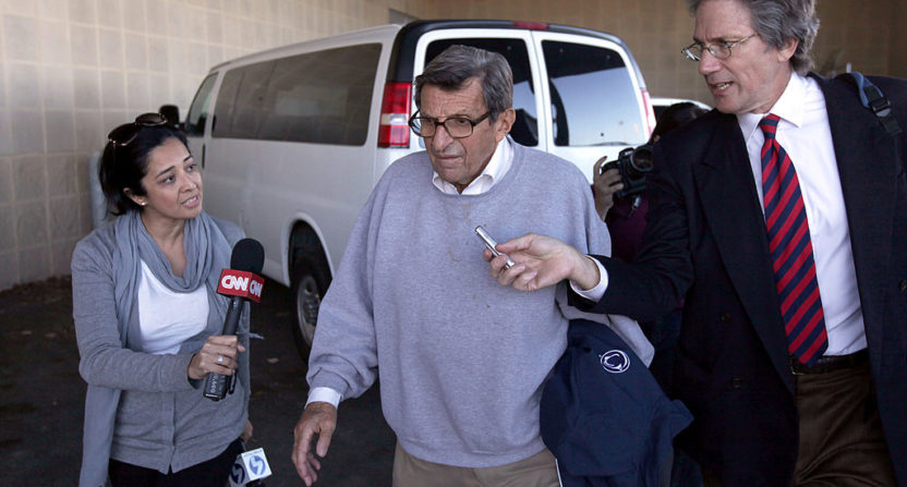 Paterno admitted to hearing earlier complaint about Sandusky sexual abuse