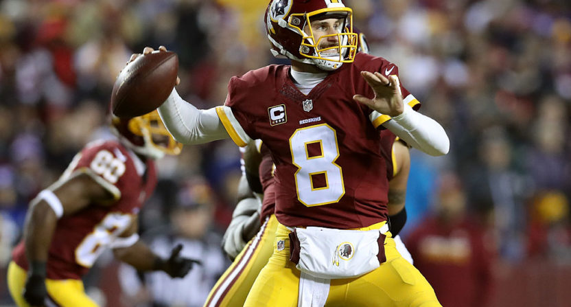 Kirk Cousins struggles in Washington's ugly loss to Eagles