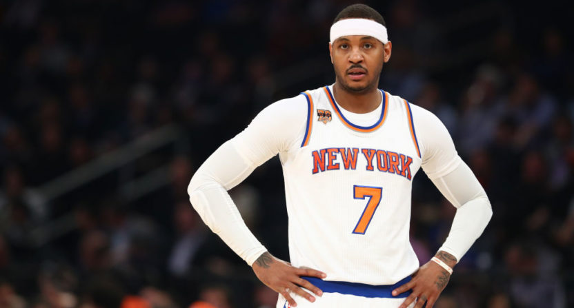 Carmelo Anthony traded to