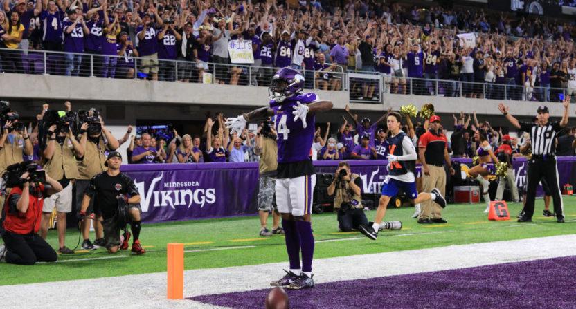 Stefon Diggs scores twice as Vikings beat Saints