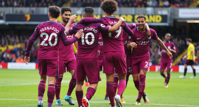 Man City full-back Walker happy to be playing alongside Aguero